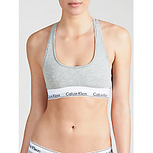 Buy Calvin Klein Modern Cotton Bralette, Grey Heather Online at johnlewis.com