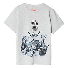Buy Mango Kids Boys' Rock Band Printed T-Shirt, Grey Online at johnlewis.com