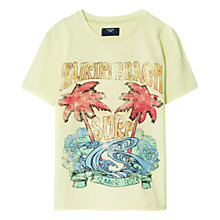 Buy Mango Kids Tropical Beach T-Shirt, Green Online at johnlewis.com