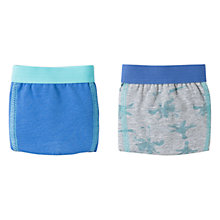 Buy Mango Kids Boys' Palm Print Boxers, Pack of 2, Bright Blue Online at johnlewis.com