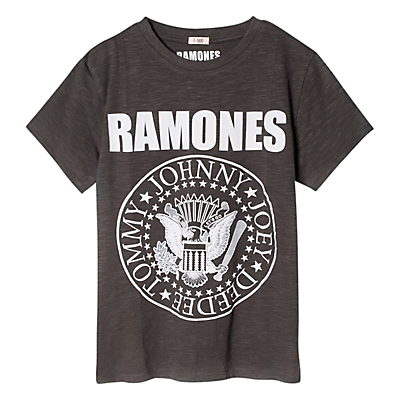Mango Kids Boys Ramones Band TShirt Charcoal