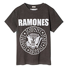 Buy Mango Kids Boys' Ramones Band T-Shirt, Charcoal Online at johnlewis.com