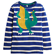 Buy Little Joule Boys' Jack Dino Striped Jersey Top, Navy/White Online at johnlewis.com