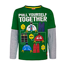 Buy LEGO Pull Yourself Together Print T-Shirt, Green Online at johnlewis.com