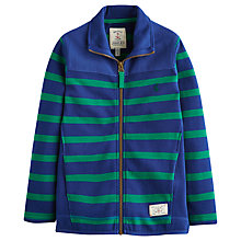 Buy Little Joules Boy's Dunstan Stripe Zip Through Sweatshirt, Green/Blue Online at johnlewis.com