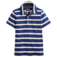 Buy Little Joule Boys' Tom Stripy Polo Shirt, Navy/White Online at johnlewis.com