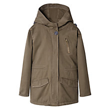 Buy Mango Kids Boys' Detachable Lining Parka, Medium Brown Online at johnlewis.com