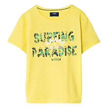 Buy Mango Kids Boys' Surf Print T-Shirt, Yellow Online at johnlewis.com
