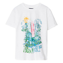 Buy Mango Kids Hawaii Surf T-Shirt, White Online at johnlewis.com