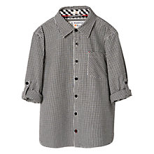 Buy Mango Kids Boys' Gingham Check Shirt, Black Online at johnlewis.com