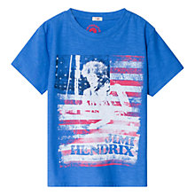 Buy Mango Kids Jimi Hendrix Band T-Shirt, Bright Blue Online at johnlewis.com