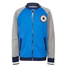 Buy Converse Boys' Baseball Jacket, Sapphire Blue/Grey Online at johnlewis.com