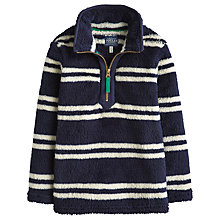 Buy Little Joule Boys' Stripy Woozle Fleece, Navy/White Online at johnlewis.com