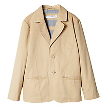 Buy Mango Kids Boys' Cotton Blazer, Medium Brown Online at johnlewis.com