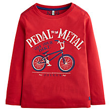 Buy Little Joules Boys' Finlay Bike Long Sleeve Jersey Top, Red Online at johnlewis.com