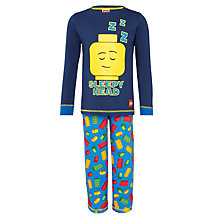 Buy LEGO Sleepy Head Pyjamas, Blue Online at johnlewis.com
