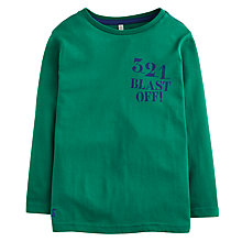 Buy Little Joule Boys' Jack Rocket Long Sleeve Jersey Top, Green Online at johnlewis.com