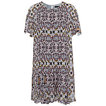 Buy French Connection Electric Mosaic Fluted Sleeve Dress, Anemone Multi Online at johnlewis.com