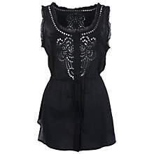 Buy French Connection Harlan Top, Black Online at johnlewis.com