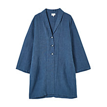 Buy East Linen Duster Coat, Navy Online at johnlewis.com