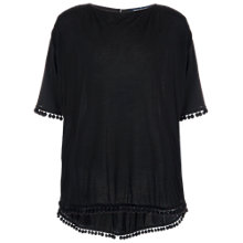 Buy French Connection Polly Plains Floral Print Top, Black Online at johnlewis.com