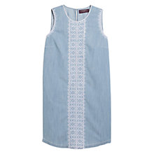 Buy Violeta by Mango Ethnic Embroidery Dress, Open Blue Online at johnlewis.com