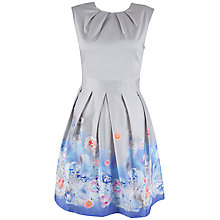 Buy Almari Floral Pleat Detail Dress, Grey/Multi Online at johnlewis.com