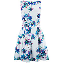 Buy Closet Palm Cut Out Back Dress, Multi Online at johnlewis.com