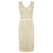Buy Kaliko Lace V Neck Dress, Muslin Online at johnlewis.com