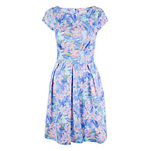 Buy Almari Spring Floral Pleat Skirt Dress, Purple/Multi Online at johnlewis.com