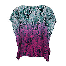 Buy French Connection Sea Fern Silk Oversized Top, Lake Blue Multi Online at johnlewis.com