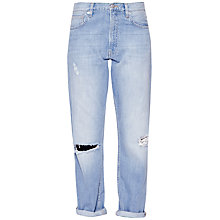 Buy French Connection High Rise Boyfriend Jeans, Ripped Bleach Online at johnlewis.com