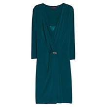 Buy Violeta by Mango Applique Draped Dress, Green Online at johnlewis.com