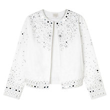Buy East Mirror Work Jacket, White Online at johnlewis.com