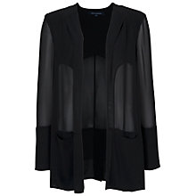 Buy French Connection Shimmer Spell Semi-Sheer Coat, Black Online at johnlewis.com