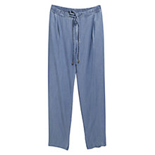 Buy Violeta by Mango Soft Denim Trousers, Open Blue Online at johnlewis.com