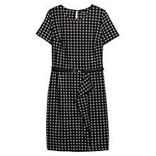 Buy Violeta by Mango Ruffle Printed Dress, Black Online at johnlewis.com