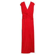 Buy Violeta by Mango Pleated Maxi Dress, Scarlet Online at johnlewis.com