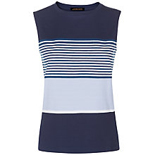 Buy Jaeger Engineered Stripe Top, Blue Online at johnlewis.com