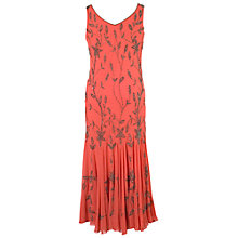 Buy Chesca Gunmetal Beaded Dress, Coral Online at johnlewis.com