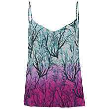 Buy French Connection Sea Fern Silk Top, Lake Blue Multi Online at johnlewis.com