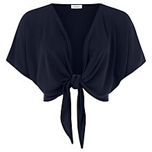 Buy Kaliko Tie Front Jersey Cardigan, Navy Online at johnlewis.com