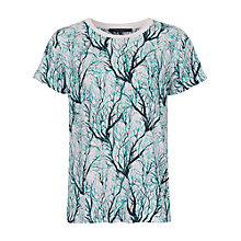 Buy French Connection Sea Fern Holiday T-Shirt, Lake Blue Multi Online at johnlewis.com