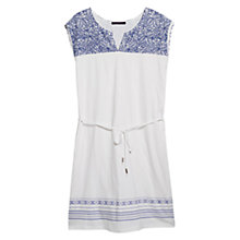 Buy Violeta by Mango Embroidered Panel Dress, White Online at johnlewis.com