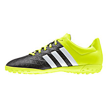Buy Adidas Ace 15.4 TF Sports Shoes, Black/Green Online at johnlewis.com