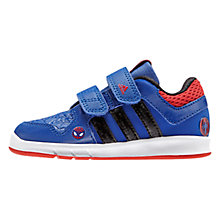 Buy Adidas LK Spider Man CF Shoes, Blue/Black Online at johnlewis.com