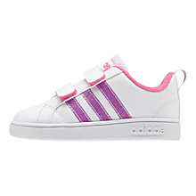 Buy Adidas Advantage VS CMF C Infant Sports Shoes, White/Purple Online at johnlewis.com