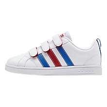 Buy Adidas Advantage VS CMFC Shoes, White/Red Online at johnlewis.com