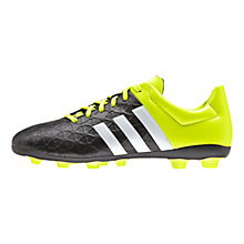 Buy Adidas Ace 15.4 FXG Football Boots, Black/Solar Yellow Online at johnlewis.com