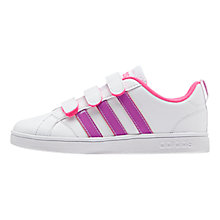 Buy Adidas Advantage VS CMF C Shoes, White/Purple Online at johnlewis.com